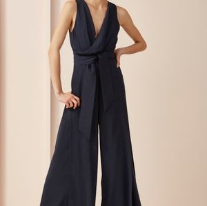 Keepsake Meadows Surplice Navy Blue Jumpsuit XS